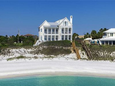 Photo for Reflections - Gulf Front Luxury, 30-A, Heated Private Pool, Free Beach Service!