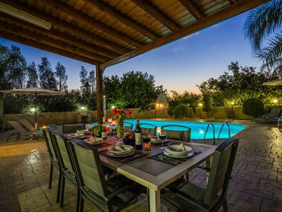 Photo for Villa Astro -  a beach villa wth heated pool that sleeps 8 guests  in 4 bedrooms