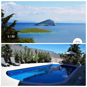 Photo for Seaside Pool villa Porto Rafti with Spectacular Seaview near Athens & airport!!!
