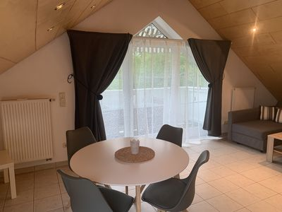 Photo for Modern furnished, open attic apartment with loft character