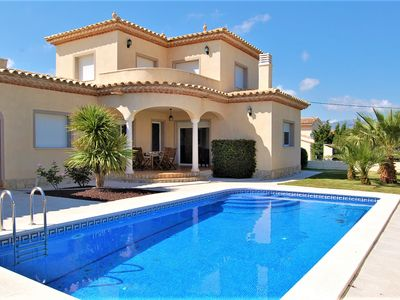 Photo for Beautiful modern and comfortable villa, private pool, sleeps 8, beach 2.5 km