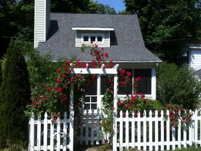 Photo for Whimsical Union Pier Cottage Close To Everything with Hot Tub!