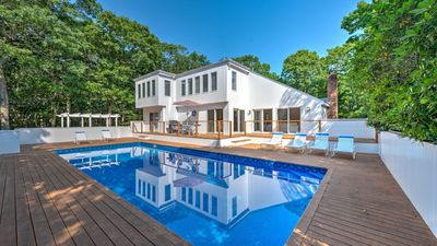 Photo for NEW LISTING: Newly renovated East Hampton home at the end of a long cul-de-sac, amazing indoor & outdoor entertainment!