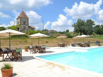 Photo for 5 charming cottages with large swimming pool