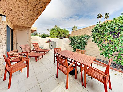 Patio - Enjoy dining on your enclosed private patio.