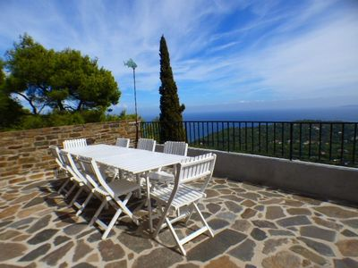 Photo for THE FAVIERE / GAOU BENAT - PANORAMIC SEA VIEW. VILLA 3 BEDROOMS. LARGE TERRACE