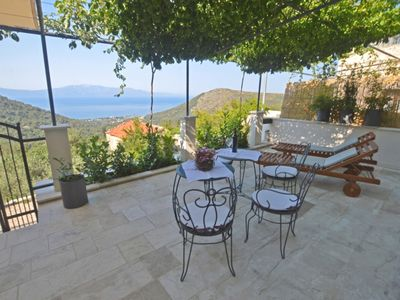Photo for Peace of piece holiday home - traditional dalmatian stone house with sea view!