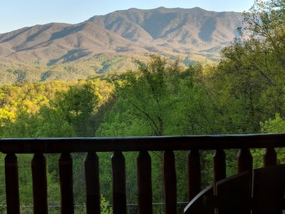 Photo for Beautiful Views, Deck Fireplace, very private & so much more!