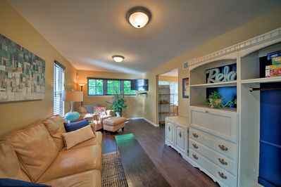 The newly renovated cottage is a perfect getaway & has a flat-screen Smart TV!