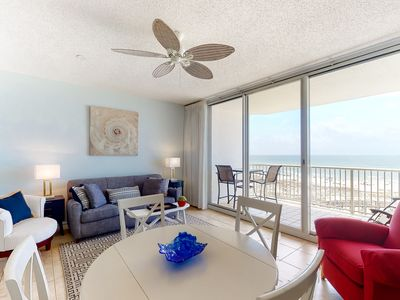 Photo for Family-friendly, Gulf front condo w/ a balcony, shared pools, & tennis