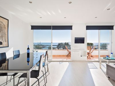 Photo for SITGES VORAMAR - Ocean front with pool