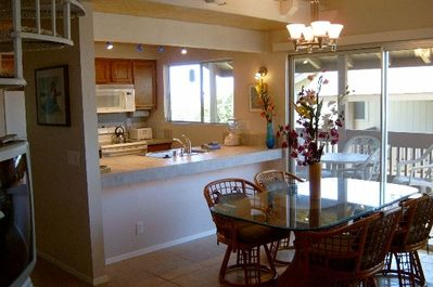View of Dining Area and Kitchen