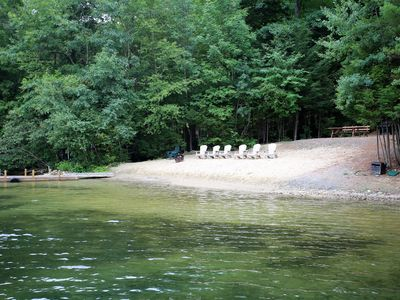 Squam Lake House With Sandy Beach On 4 Acres With Hot Tub, Dock and Fire pit.