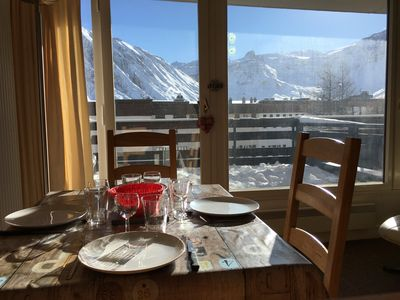 Photo for Tignes The ski-in ski-out lake 4 pers Bec Rouge large terrace