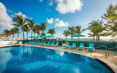 Photo for OCEAN FRONT Luxury 2BR Suite w/ Private Balcony, Heated Pool & Beach Access