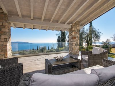 Photo for Cà Bianca sopra: in the middle of the nature with stunning lake view