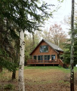 Waterfront Sugar Island Cabin!  Freighters, Fishing, The Best of the UP!