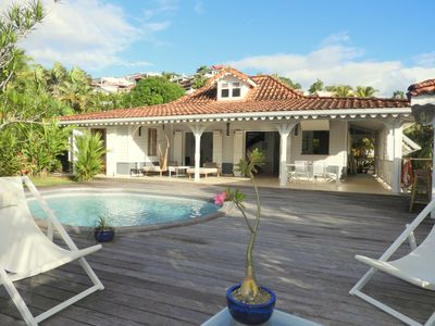 Photo for Charming Creole villa with sea view, pool and garden