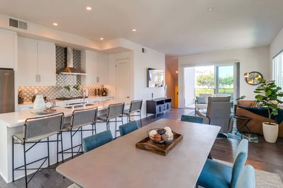 Open Layout Living, Dining and Kitchen