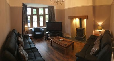 Lounge with log burner, TV with BT sports, DVD with surround sound and Wii