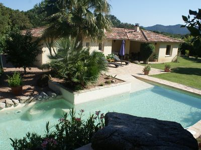 Photo for Detached villa surrounded by scrub, with pool