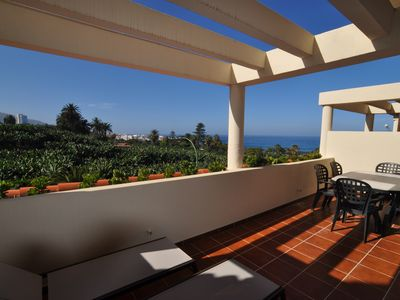 Photo for sunny terrace apartment directly on the sea with stunning views