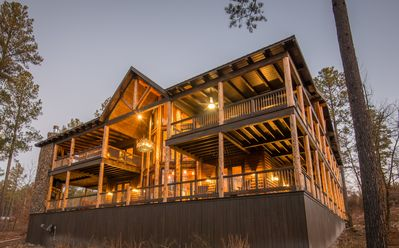 Photo for Deck-a-saurus: Sleeps 20, Hot Tub, Game Tables, Fireplaces, Outdoor Kitchen