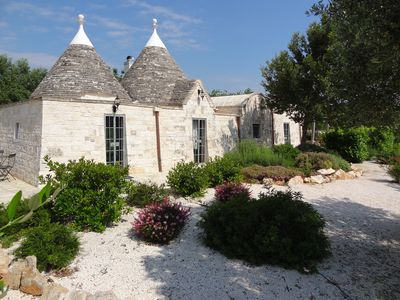 Photo for Stunning one bedroom trullo with private swimming pool & WiFi in the countryside