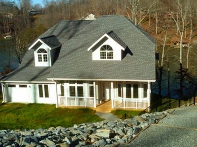 Photo for Gisby - 7BR home with party deck at the dock.