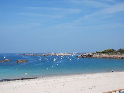Photo for Charming studio with breathtaking views of the beach of the Greve-Blanche!