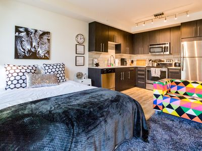 Photo for Downtown dog-friendly studio with a private balcony - close to everything!