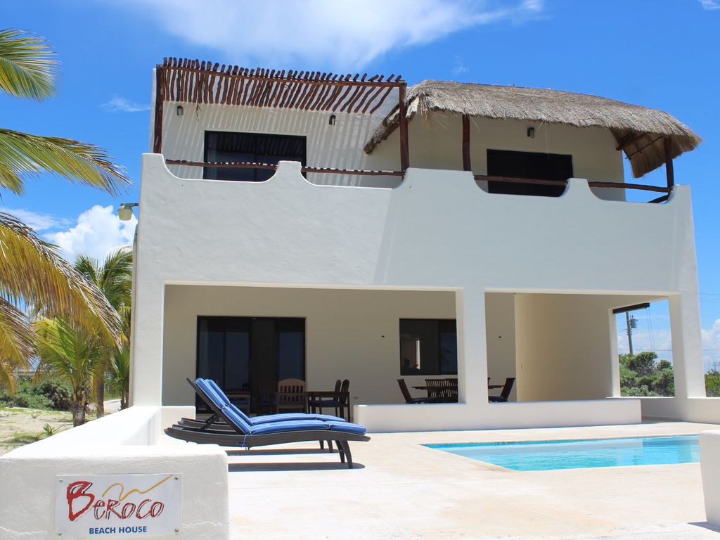 Beroco front beach house yucatan wi fi piscine smart tv for Alarme piscine home beach