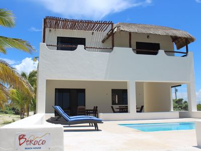 Photo for BEROCO Front Beach House Yucatan Wi-Fi, Pool, Smart Tv