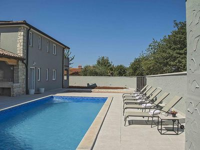 Photo for Villa near Porec with private pool, 4 bedrooms, 3 bathrooms WiFi and barbecue