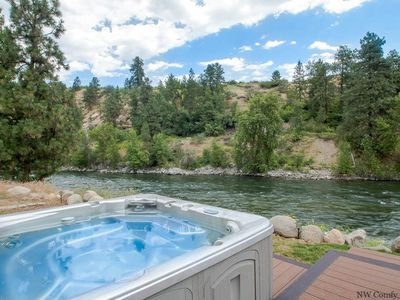 Photo for LEAVENWORTH RIVER HAUS, Wenatchee River View, WiFi, Hot Tub, Sauna & Dogs OK