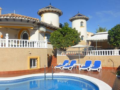 Photo for Detached Beach Villa With Private Pool only 10 minute walk to Beach...