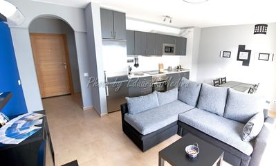 Photo for Nice apartment with terrace, next to the marina and beach Las Coloradas