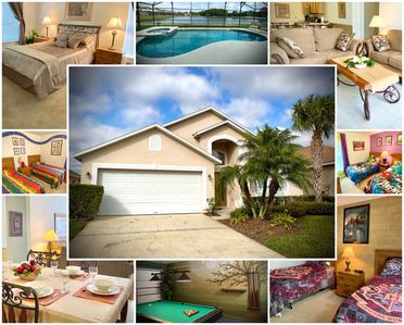 Photo for Stunning 5 BR Home, Pool Spa, Harry Potter Themed Room, Games Room, Lake View