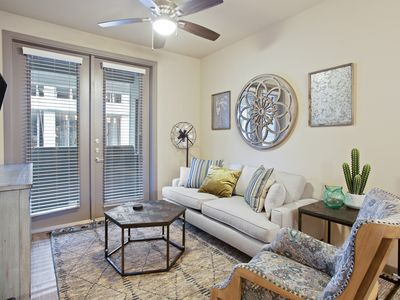 Photo for NEW LISTING! Modern apartment w/ a shared pool & fitness room -right in downtown