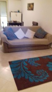 Sofa bed in lounge area ,