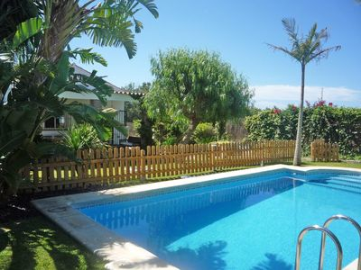 Photo for Great villa with private pool and tropical garden near the beach