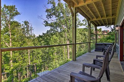 Nature lovers will appreciate the 3-sided wraparound porch!