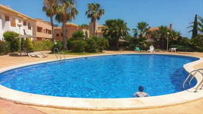 Photo for Ground Floor Apartment, Pool, Walk to Beach, Great Cycling, Walking, Easy Access