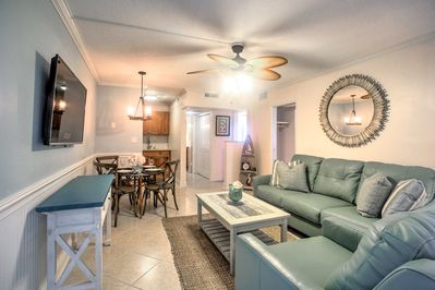 You'll love the open layout of the condo.