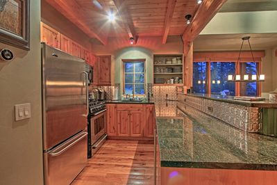 The kitchen is perfect for whipping up meals for all 8 travelers in your group.