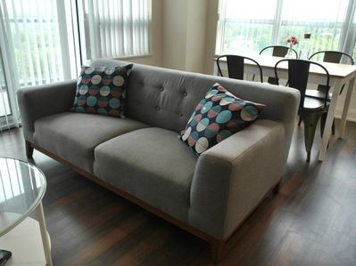 Comfortable sofa in living area