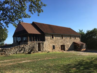 Photo for Lovely stone barn, tastfully restored with 5 bedrooms and a private pool