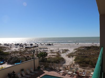 Photo for Perfect Beachfront Condo with heated pool + new furnishings