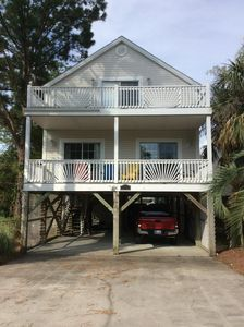 Photo for Your family summer vacation!3 BR/3 BA home private POOL steps to BEACH sleeps 8-