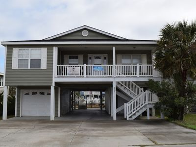 Photo for Updated 4 bedroom, 3 bath house on 2nd row easy access to beach